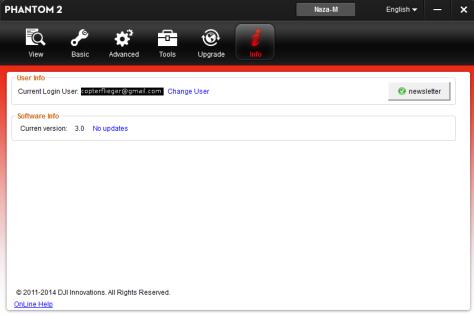 Assistant Software Version und Newsletter