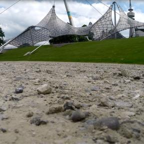 Liftoff-Punkt am Rand des Olympiaparks