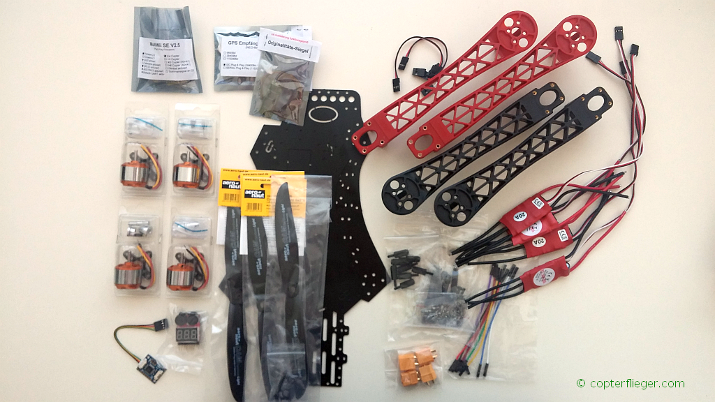 520 quadrocopter bauen copter fpv. Black Bedroom Furniture Sets. Home Design Ideas