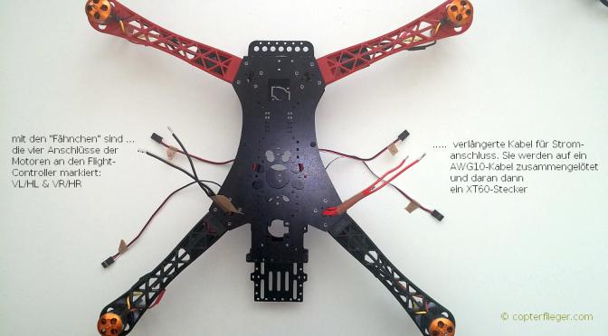 Quadrocopter selber bauen, Tag 2: Lötarbeiten, Kabel