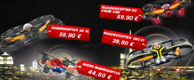 4 Quadrocopter von Carrera RC