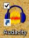 Audacity auf dem Desktop