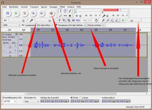 Mit Audacity werden sehr einfach eigene Soundfiles erstellt