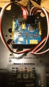 Anschluss der Motoren an MultiWii 2.5