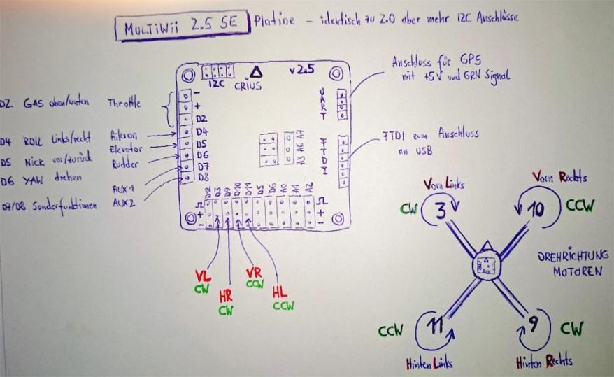 skizze multiwii 2.5 se anschluesse