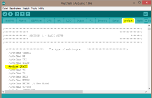screenshot: arduino config.h