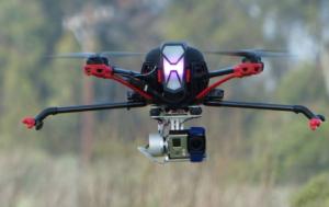 Nova X350 mit GoPro und klappbaren Kufen
