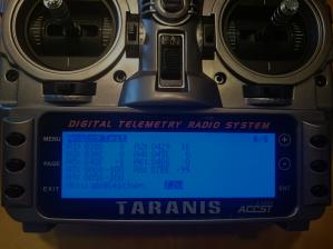 Taranis Analog Test in den Grundeinstellungen