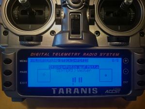 Taranis: Kalibrierung der Hebel und Potis