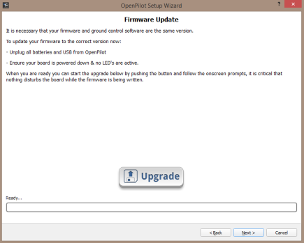 GCS Wizward: Firmware Update