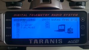 Taranis Modell auswählen
