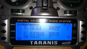 Taranis X9D Spezialfunktionen