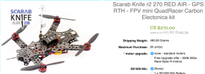 Der Scarab Knife bei multiwiicopter.com