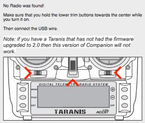 Bootloader der Taranis aufrufen