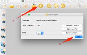 Download der aktuellen OpenTX Firmware