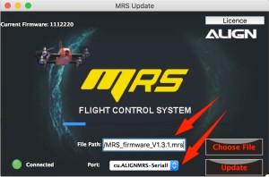 Unter Port das passende auswählen, sonst klappt der Connect zum MR25 nicht