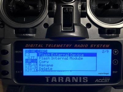 Taranis Flash external Device