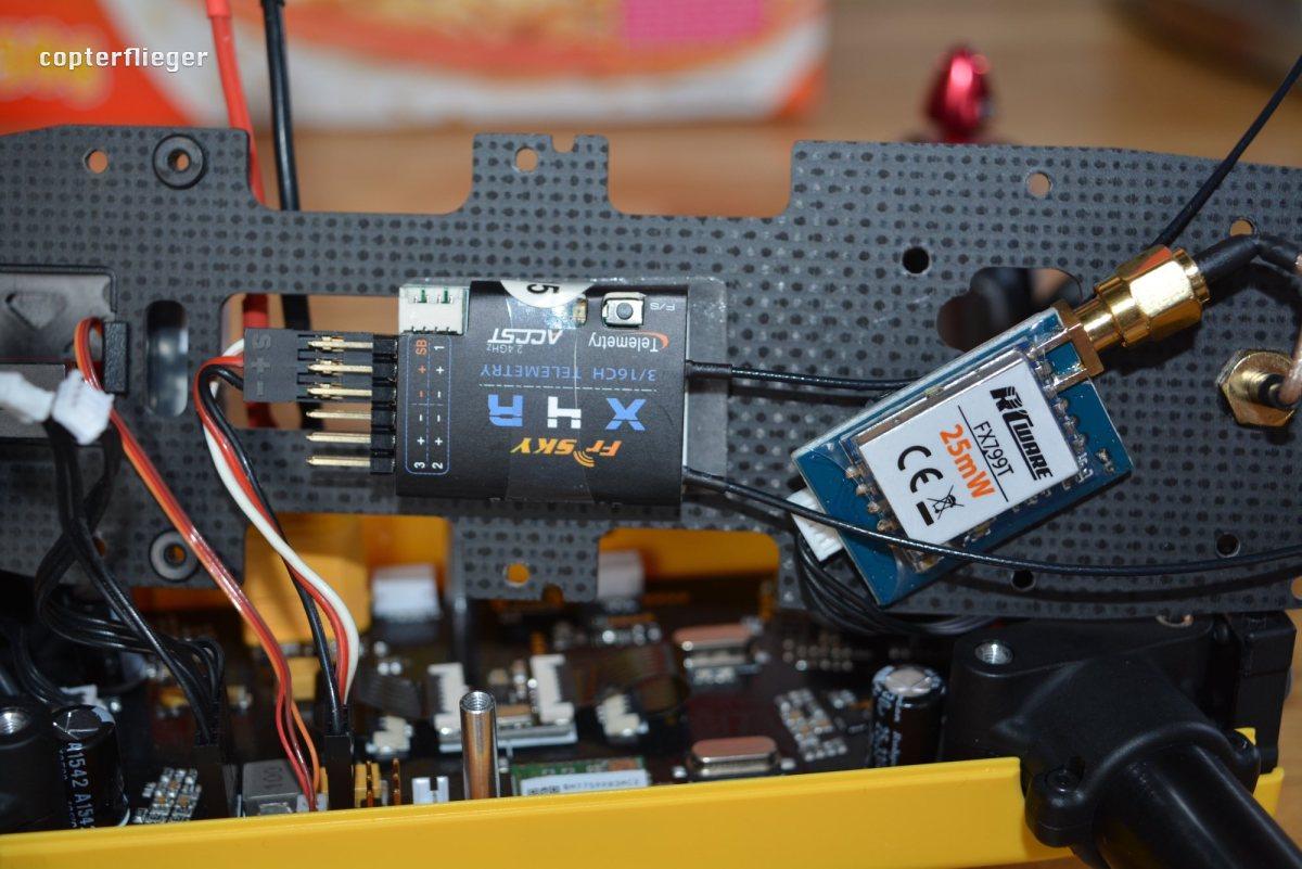 Align MR25: Video-Transmitter und Empfänger einbauen