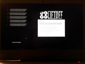 Startbildschirm Pre-Release von LiftOff
