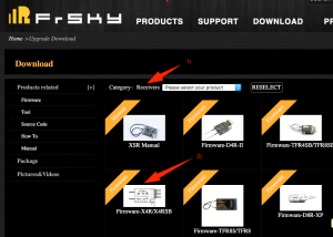 FrSky Download Bereich