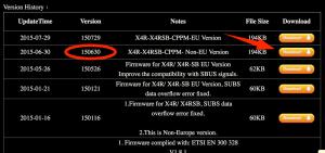 Non-EU Firmware Download