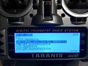 Firmware X4R-SB auswählen zum flashen