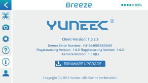 Die App informiert über Firmware Updates